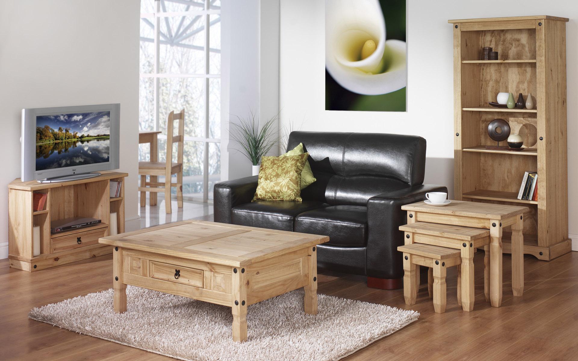 Дизайн деревянной мебели для зала