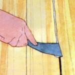 Как заделать щели в деревянных пола...