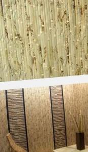 поклейка бамбуковых обоев