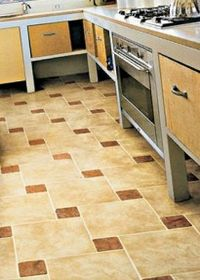 кухонный пол из кафеля