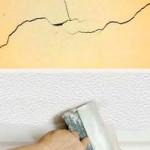 Как заделывать трещины на потолке