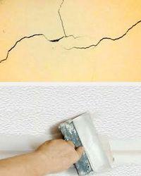 чем заделать трещины потолка