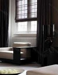 шторы черного цвета в интерьере