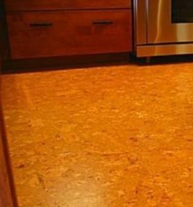 Пробковый пол для кухни