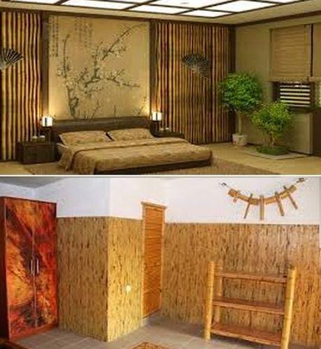 обои из бамбука для стен
