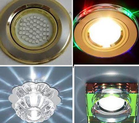точечные светильники в декоре