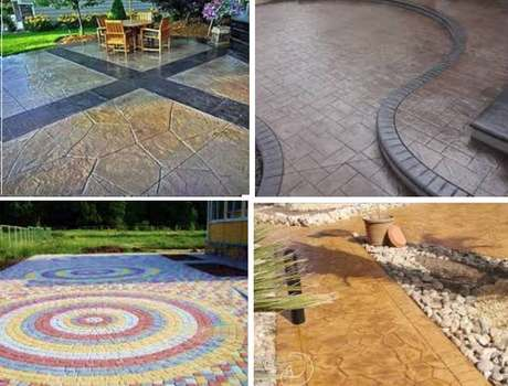 декоративный бетон применение