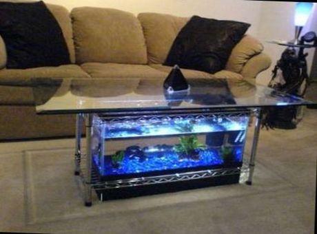 решения в интерьере с аквариумом