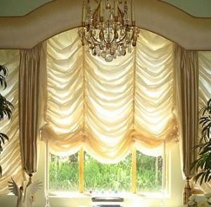 Интерьер и французские шторы