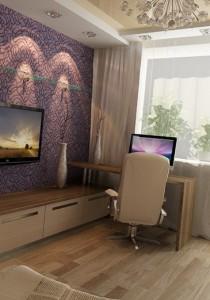 дизайнерские решения для одной комнаты