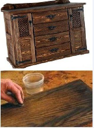 искусственное состаривание мебели