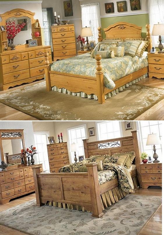 стиль интерьера кантри для спальни