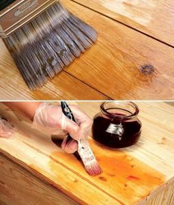 покрытие лаком древесины
