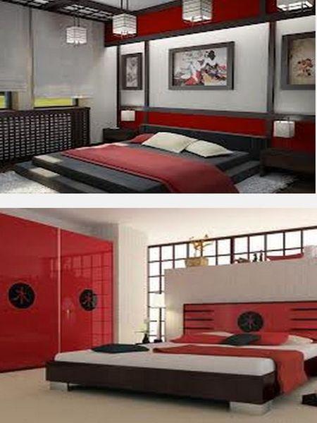 мебель в японском интерьере спальни