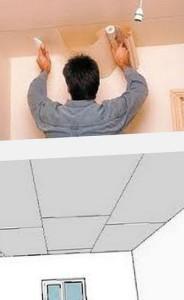 обои на гипсокартонный потолок