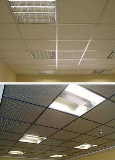 виды плиточных подвесных потолков