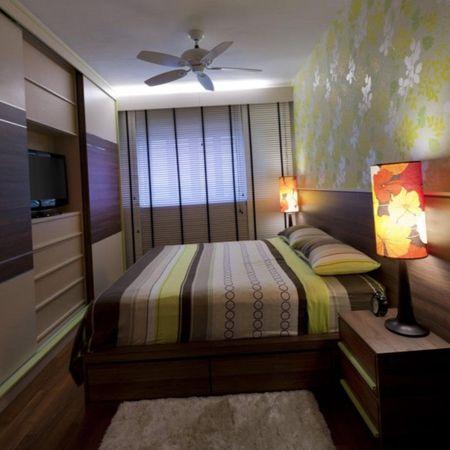спальня маленькой ширины
