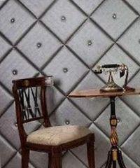 декор стен обоями из кожи