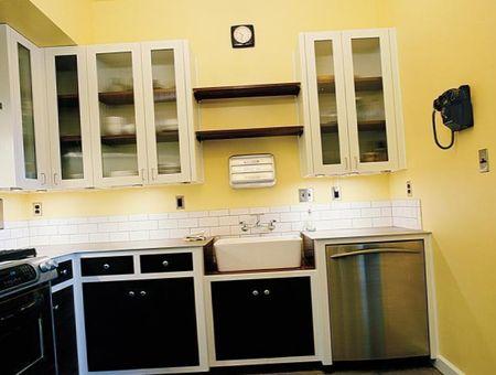 цвет кухни черно-желтое сочетание