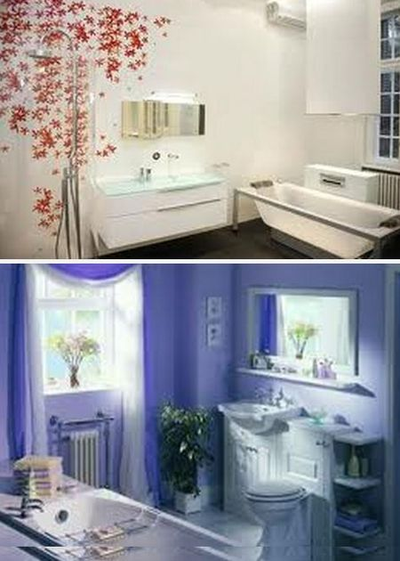 обои в ванной