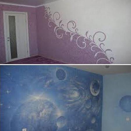 декоративная штукатурка стен жидкие обои