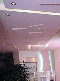 отделка потолка стекловолокном
