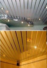 кухня, реечный потолок