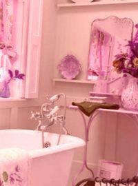 отделка ванной шебби шик