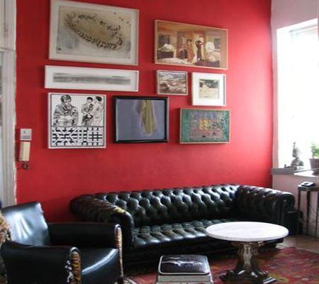 красное с черным в декоре интерьера