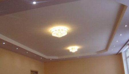 гипсокартонный потолок монтаж