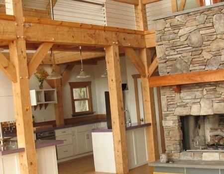 скандинавский деревянный интерьер
