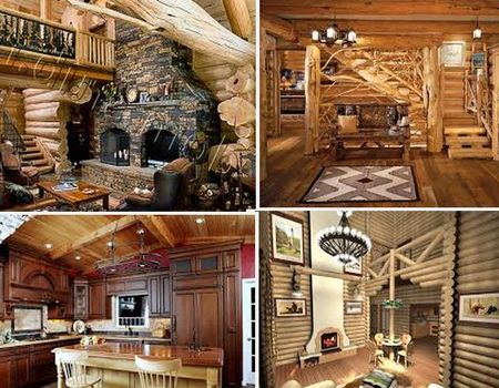 деревянная отделка интерьера дома