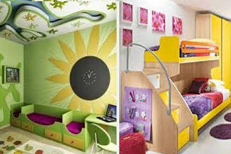 яркий декор детской комнаты