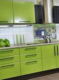декор квартиры в салатовом цвете