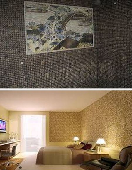 кокосовая мозаика для стен