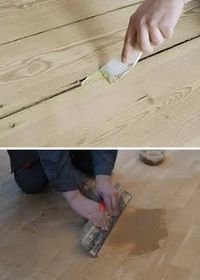 шпаклевка дефектов деревянного пола