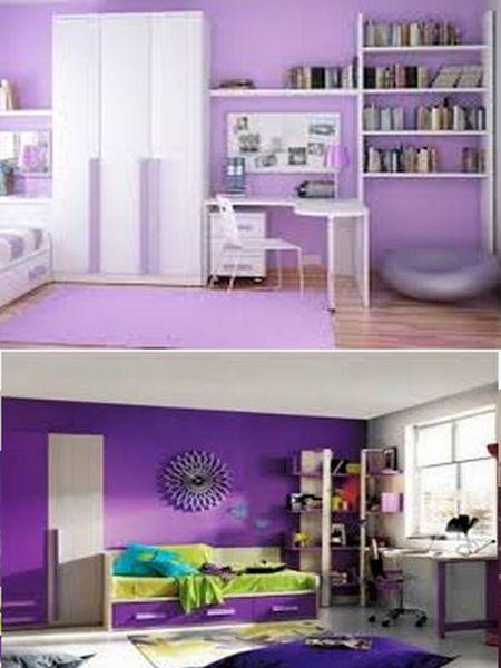 фиолетовый цвет в интерьере комнаты для ребенка