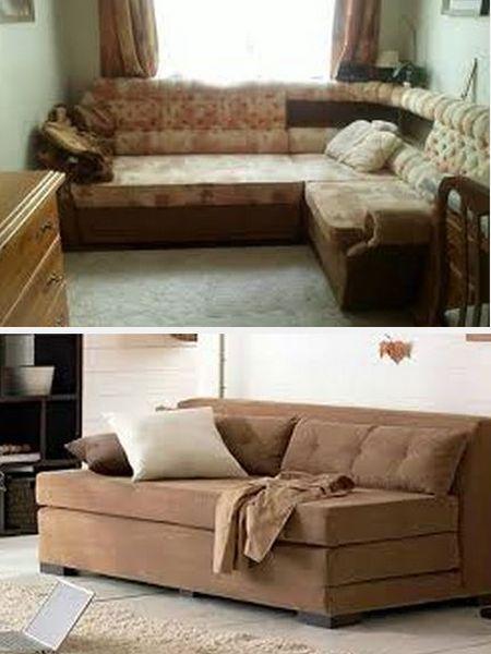 непропорциональная по размеру мебель в комнате