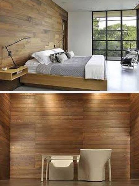 обои из дерева в отделке стен