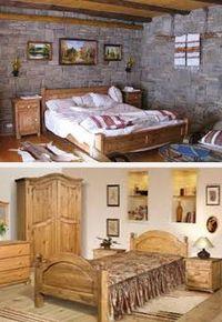 деревенский стиль спальни