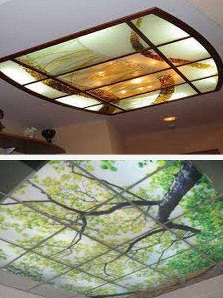 потолок из акрила фото