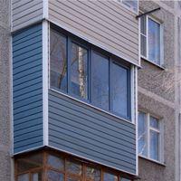 как обшить балкон снаружи