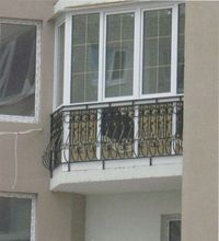 французское окно на балконе