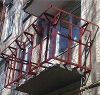 металлический парапет балкона