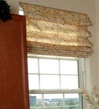 окна с римскими шторами