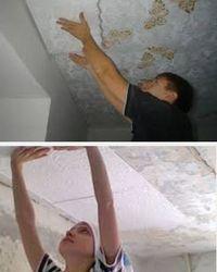как отделать потолок плиткой