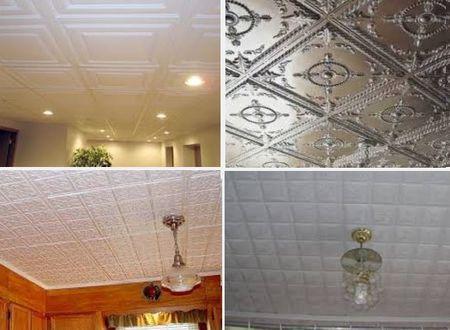 потолочная плитка в интерьере