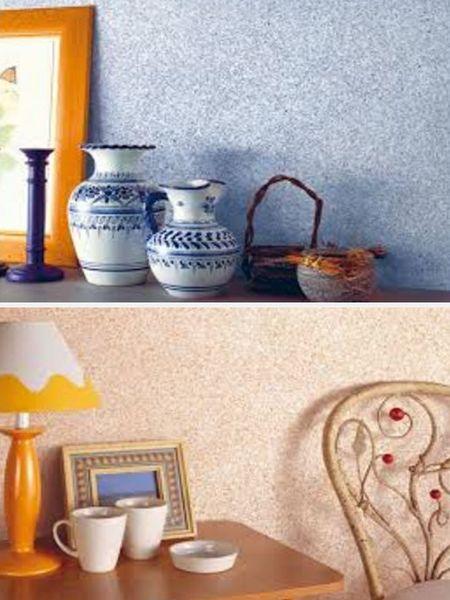 отделка стен мозаичной краской