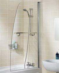 шторы для ванной стеклянные раздвижные