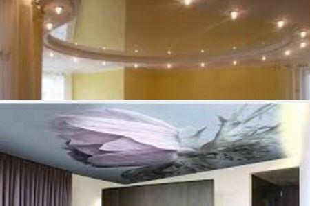 французский натяжной потолок в дизайне интерьера